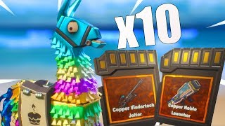 Opening 10 Birthday Llamas! Fortnite Save The World 5.1!