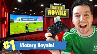 I PLAYED FORTNITE IN A CINEMA