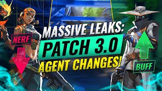 MASSIVE Upcoming Agent Buffs/Nerfs Breakdown! - Valorant Patch 3.0 Balance Changes