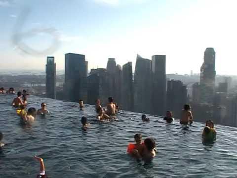 Marina bay sands hotel singapore youtube - Least crowded swimming pool singapore ...