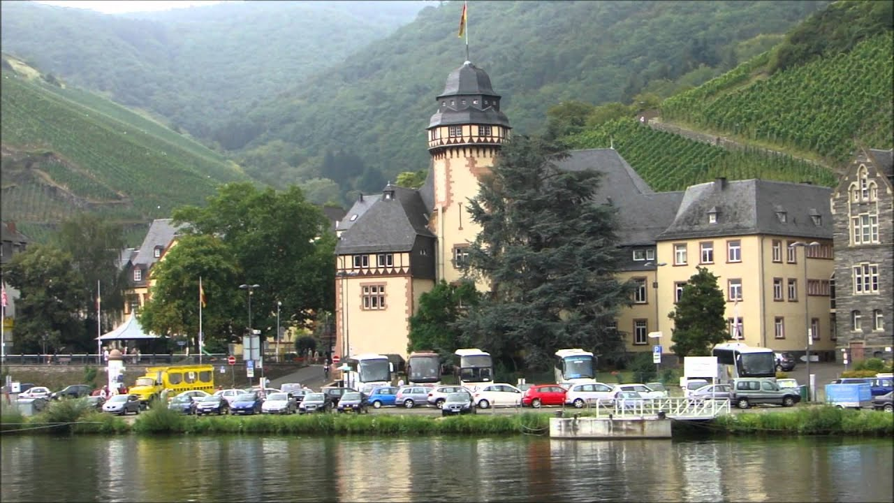 Germany  Bernkastel Kues seen from the river Moselle   YouTube