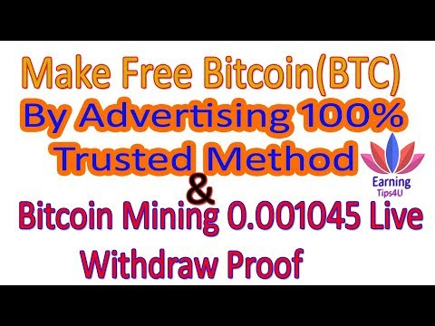 Earn Free Bitcoin By Advertising & Live Withdraw Proof In Hindi