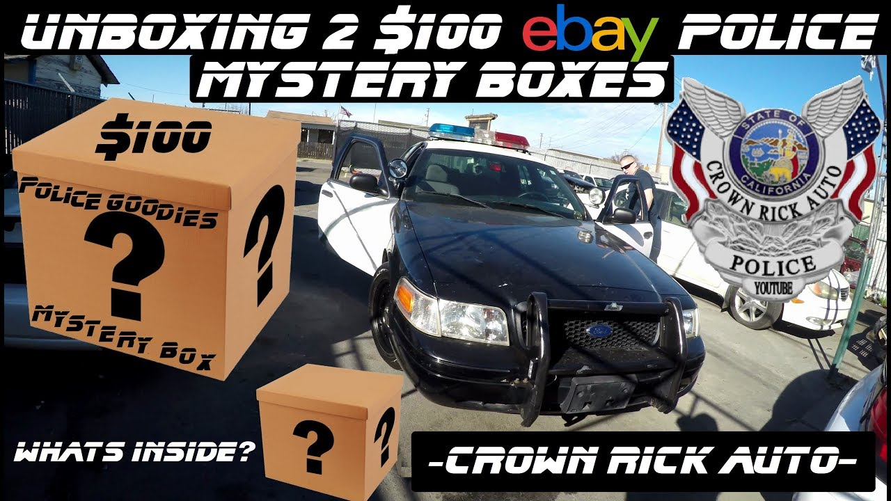 2017 Crown Victoria >> Unboxing 2 Police $100 Ebay Mystery Boxes! Crown Rick Auto ...