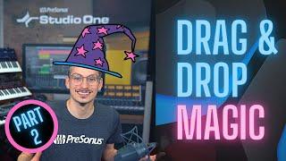 Drag & Drop Wizardry in #StudioOne - Part 2