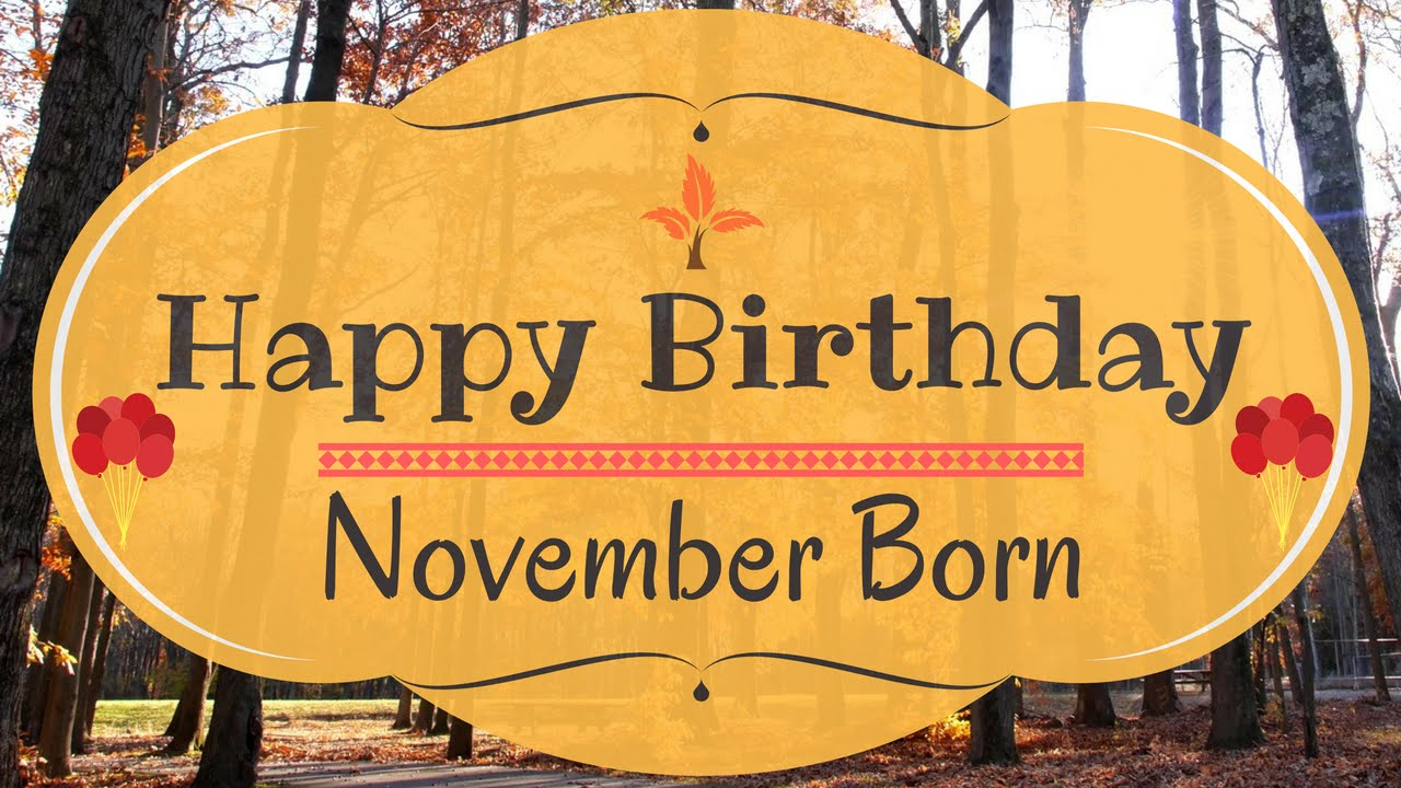 November Born Birthday Card