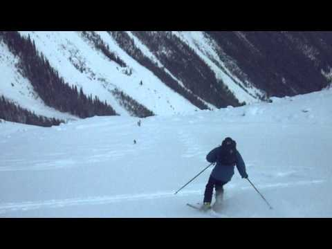Skiing Caribou Basin in the Esplanade Range of the Selkirk Mountains
