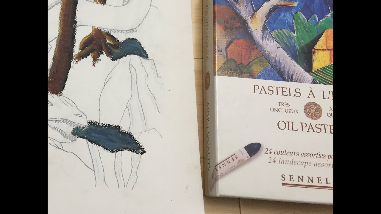 Using oil pastels with your adult coloring books! - YouTube