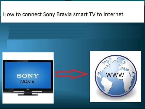 How to connect Sony Bravia to Internet