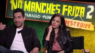 No Manches Frida 2 Interview WIth Martha Higareda & Omar Chaparro!