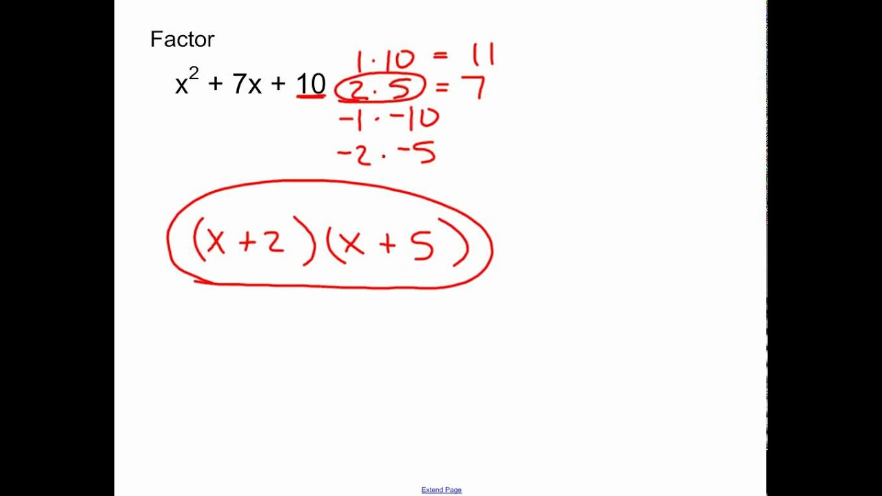Worksheets Factoring X2 Bx C Worksheet factoring x2 bx c worksheet samsungblueearth 8 5 youtube