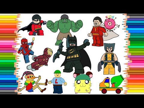 How To Draw Lego Heroes | Super Heroes | Lego, Cartoon Character Coloring - Kids Channel