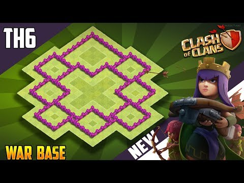 New Town Hall 6 [TH6] TROPHY/WAR Base 2018!! COC BEST Th6 Trophy/War Base Design - Clash of Clans