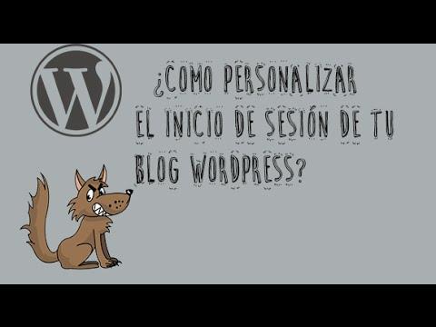 Como personalizar el inicio de Sesión en wordpress - YouTube
