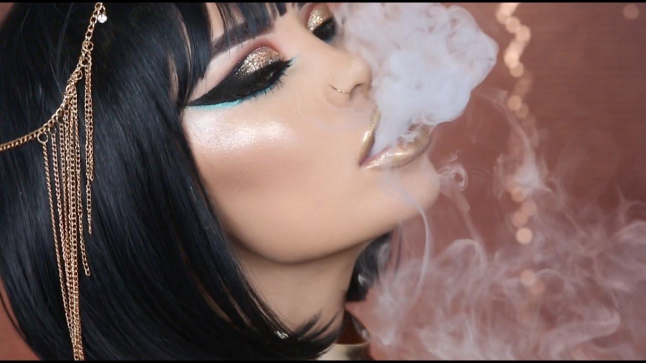 Cleopatra halloween makeup tutorial iluvsarahii youtube for What make a beautiful