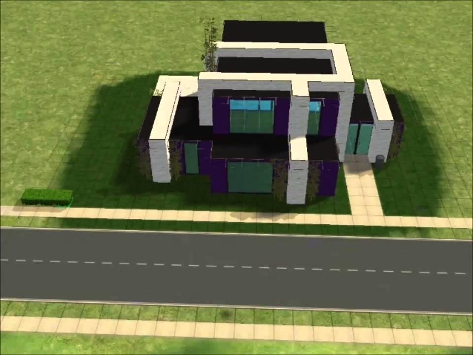 Sims 2 Maison moderne #1 (1ère partie) - YouTube