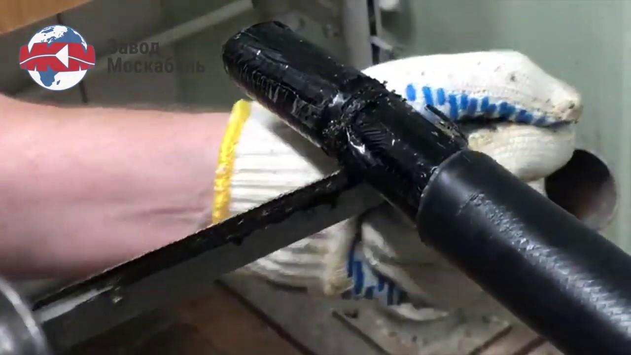 Разделка кабеля ТЭВОКС при помощи специального инструмента от Alroc