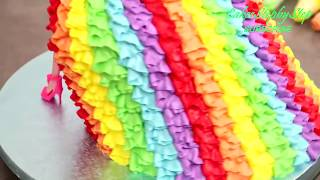 Amazing Barbie Dress Up Doll Rainbow Cake Decorating By Cakes Stepbystep