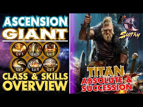 ⚔️📋Giant Ascension (TITAN) Class Overview - Succession/Absolute PVP PVE - Black Desert Mobile