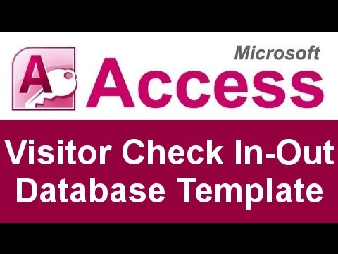 microsoft access visitor check in out database template youtube