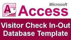 Microsoft Access Visitor Check In-Out Database Template
