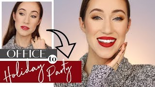 DRUGSTORE OFFICE TO HOLIDAY PARTY MAKEUP TUTORIAL  | ALLIE GLINES