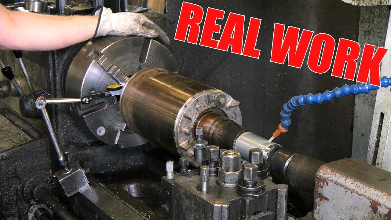 electric motor shaft repair with lathe welding machine