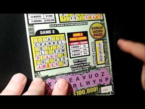 SURPRISE WINNER! $100,000 SUPER CASHWORD!!! Texas Lottery