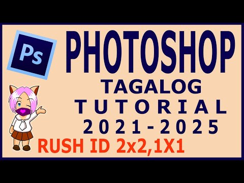 Photoshop ID Tutorial in Tagalog 2x2 and 1x1 ID Picture