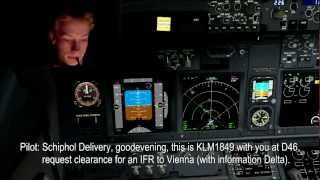 VATSIM: IFR Departure Example: Amsterdam to Vienna - FULL ATC (Friday Night Fly-In, 15-2-2013)