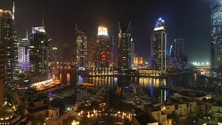 Dubai | Burj Al Arab Light Show | Palm Jumeirah Sunset | Dubai Marina View | Cars om Palm Jumeirah |