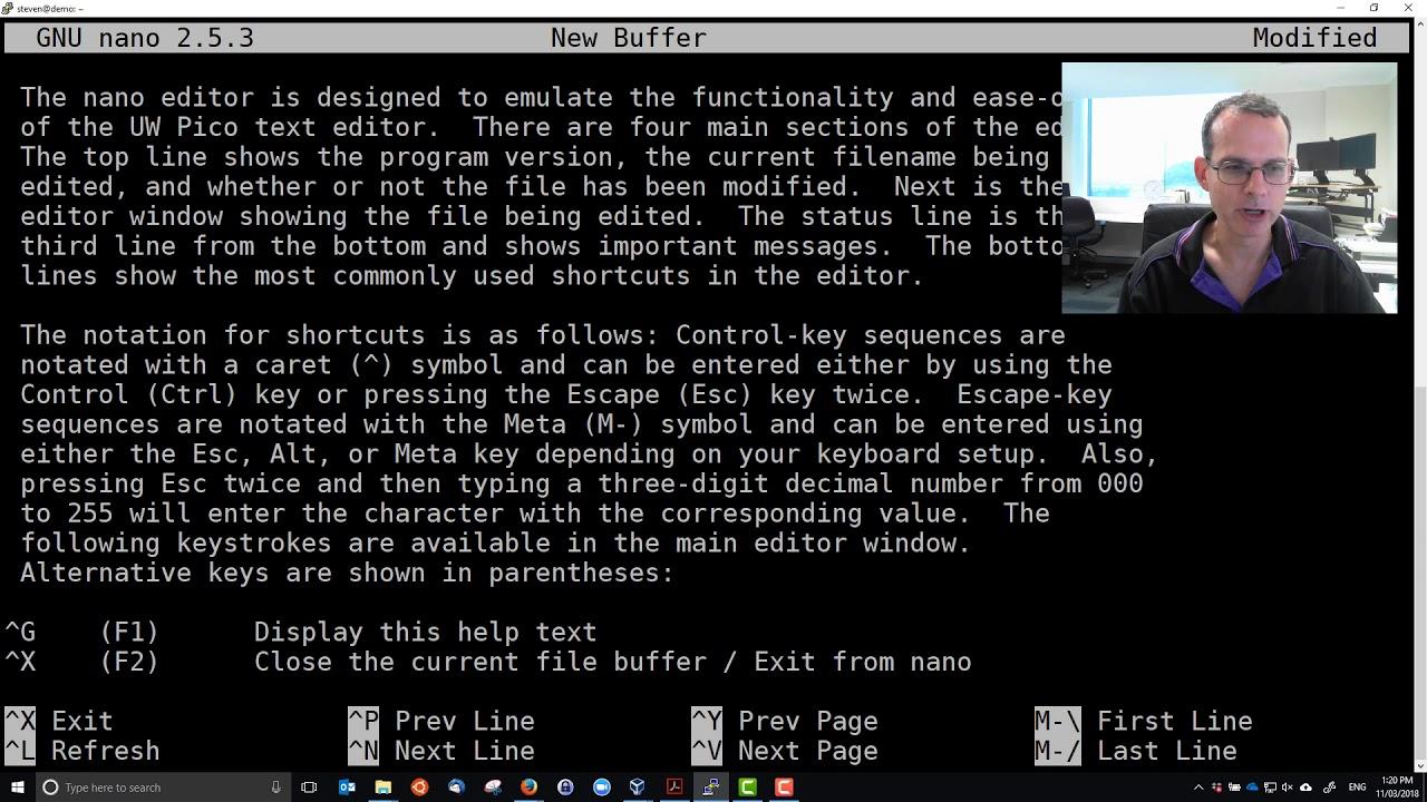 nano for Text Editing in Ubuntu