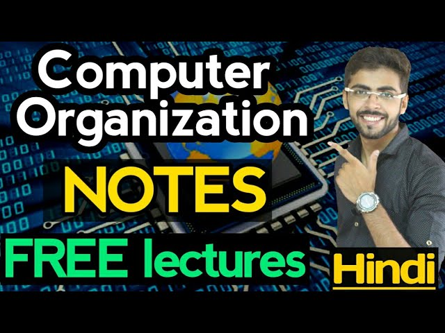 Computer Organization And Architecture In Hindi Introduction Computer Organization Gate Co 01 Youtube