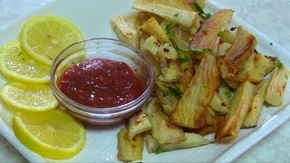 Healthy Yuca or Cassava Fries - Shallow Fried Mogo Recipe video by Bhavna