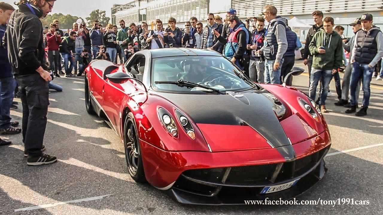 Pagani Huayra - Rosso Dubai , Revs and Review - Monza - YouTube