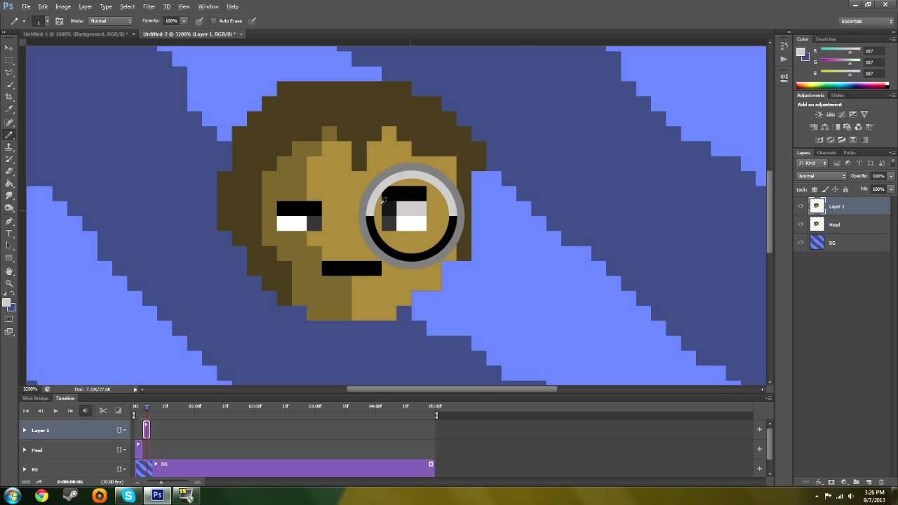 Basic tutorial how to animate using photoshop cccs6 youtube ccuart Choice Image