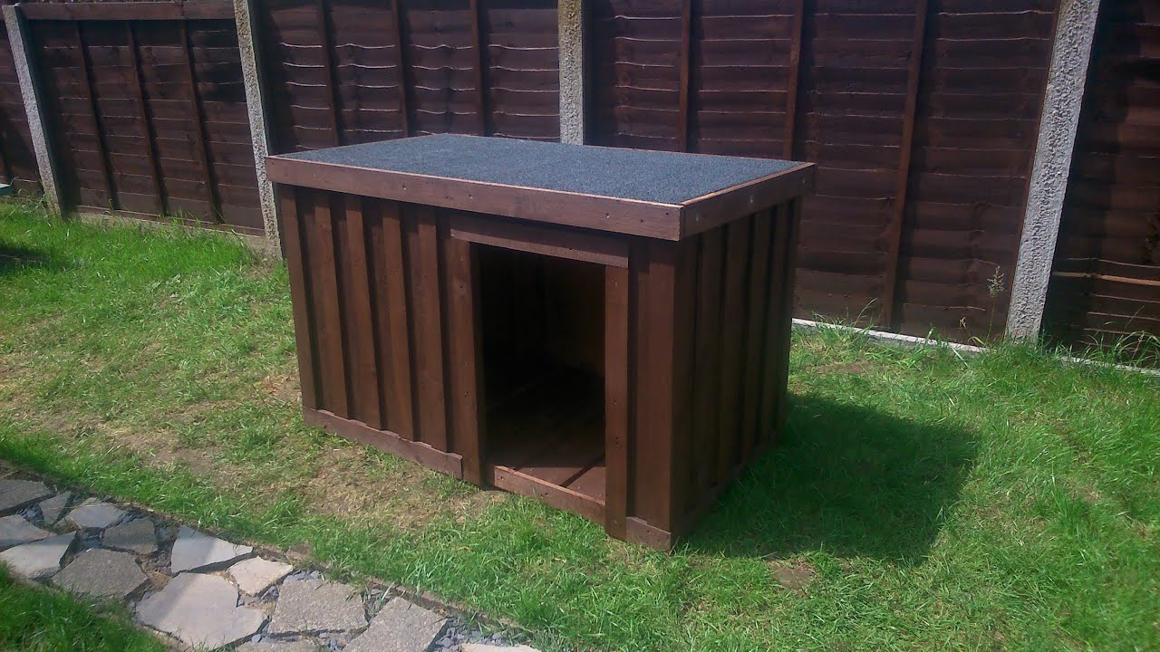 Build your own dog kennel out of pallets youtube Step by step to build a house