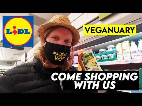 VEGANUARY 2021   Lidl Vegan Haul - Come Shopping With Us