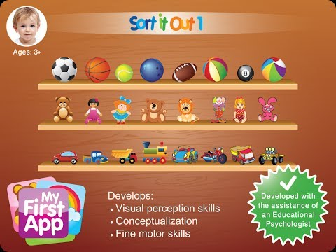 Sorting game for kids | Logical and cognitive games for kids and toddlers