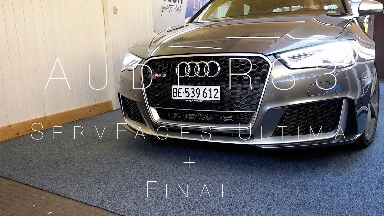 audi rs3 daytona grau full detailing | servfaces ultima + final | bb