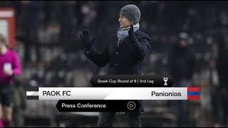 Η συνέντευξη Τύπου του ΠΑΟΚ-Πανιώνιος - PAOK TV