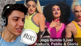 Baixar Aretuza Lovi , Pabllo Vittar & Gloria Groove - Joga Bunda (Live) Reaction / Reação