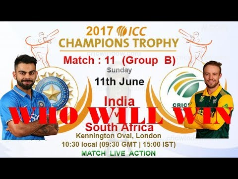 11th Match, India vs South Africa,  Group B ICC 2017 World Cricket Championship 2 2017 Gameplay