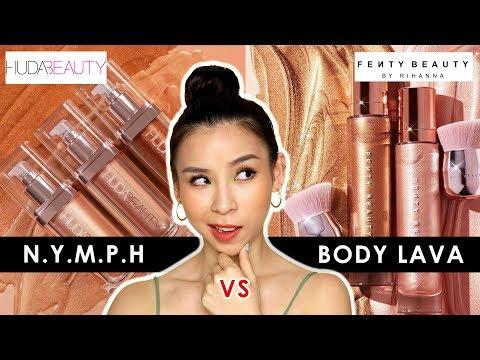Huda Beauty NYMPH VS Fenty Beauty Body Lava - Which one is better? 🤔