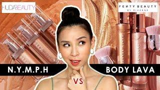 Huda Beauty N.Y.M.PH VS Fenty Beauty Body Lava - Which one is better? 🤔
