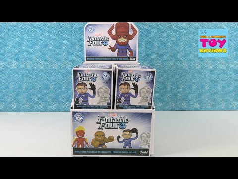 Marvel Fantastic Four Funko Mystery Minis BobbleHead Unboxing Review | PSToyReviews