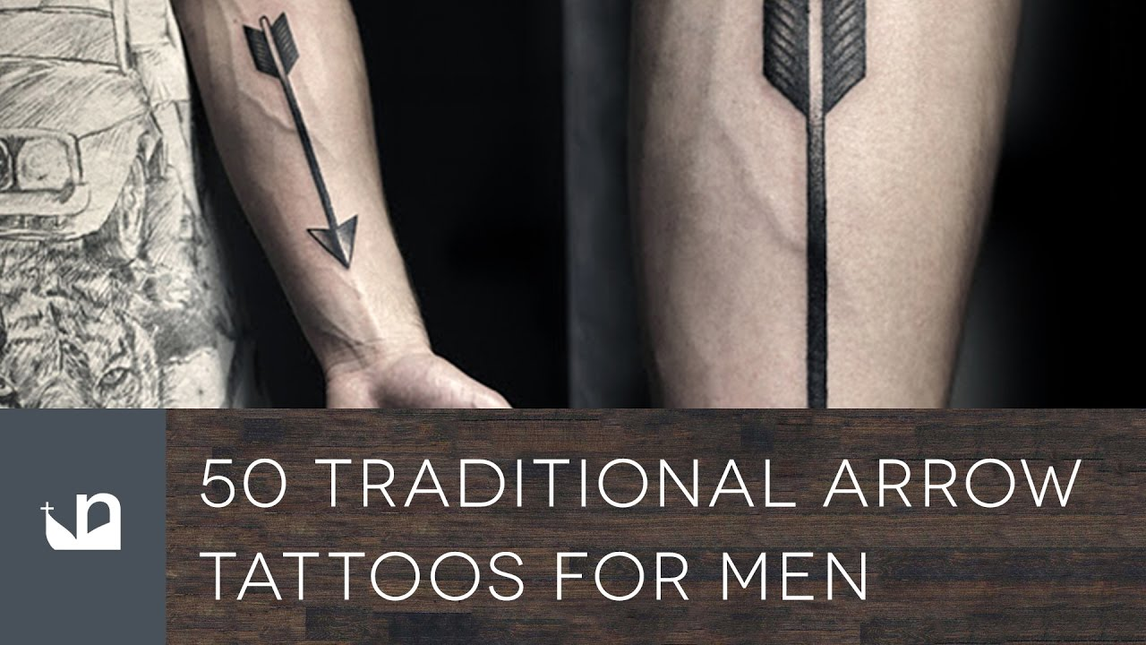 50 Traditional Arrow Tattoo Designs For Men – Archery Ideas