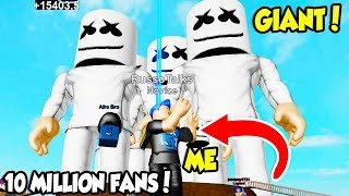 THE BIGGEST MARSHMELLOW CONCERT EVER IN GIANT DANCE OFF SIMULATOR!! (Roblox)