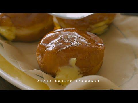 깨먹는 재미가 있는 크렘브륄레 도넛 : Creme Brulee Donuts | Honeykki 꿀키