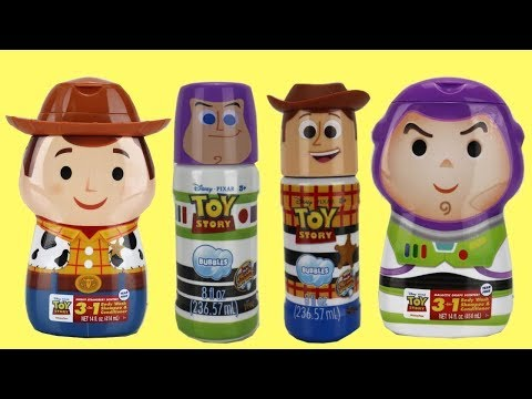 Disney Pixar TOY STORY 4 Bubble Bath Time 3 in 1 Soap with Woody Buzz Lightyear thumbnail