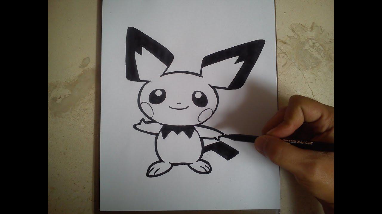 Como Dibujar A Pichu Pokemon How To Draw Pichu Pokemon